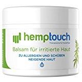 Hanf Salbe - 40-60 mg - Hanföl Balsam für Irriterte Haut - biologisch angebauten Hanf - 50 ml
