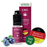 Premium CBD Liquid Blueberry Kush von Breathe Organics | CBD Liquid 100 mg | Menge 10 ml | VG max | nikotinfrei | Made in Germany | 100% natürliche Terpene