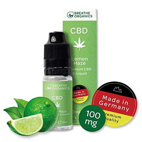 Premium CBD Liquid Lemon Haze von Breathe Organics | CBD Liquid 100 mg | Menge 10 ml | VG max | nikotinfrei | Made in Germany | 100% natürliche Terpene