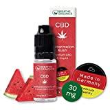Premium CBD Liquid Wassermelone von Breathe Organics | CBD Liquid 30 mg | Menge 10 ml | VG max | nikotinfrei | aus Deutschland | 100% natürliche Terpene