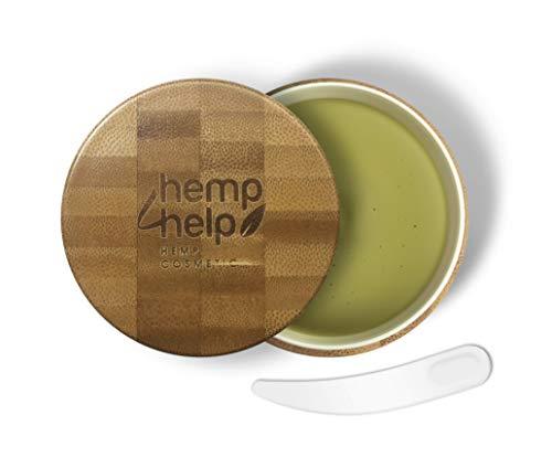 SHEA BUTTER HEIL-SALBE 100% BIO für trockene, entzündete, rissige Haut, Schuppenflechte und Narben von Hemp 4 Help mit feuchtigkeitsspendender Shea-butter und Bio-Hanf Extrakt, Olivenöl, Bienenwachs, Arganöl, JojobaIöl | 100 ml KÖRPER-CREME