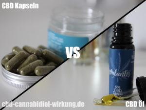 CBD Kapseln vs CBD Oel